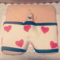 Had fun making this one :P lol   bachelorette Cake !