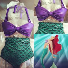 Synchronized swimming costume. Little mermaid