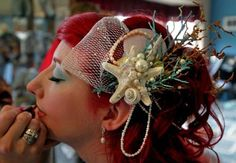 Check out this amazing hair accessorie for an Under the Sea party or event!