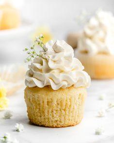 Lemon and Elderflower Cupcakes - Food Duchess Cupcake Flavors, Cupcake Recipes, Baking Recipes, Dessert Recipes, Baking Ideas, Lemon Cupcakes, Wedding Cakes With Cupcakes, Cupcake Cakes, Sprinkle Cupcakes