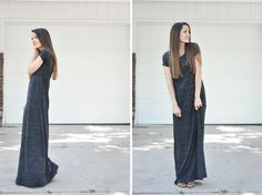 Popular DIY Crafts Blog: How to Make a Knit T-Shirt Maxi Dress
