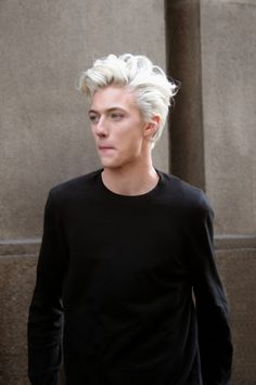 Lucky Blue Smith at MFW F/W 2015 by Sam Cosmai