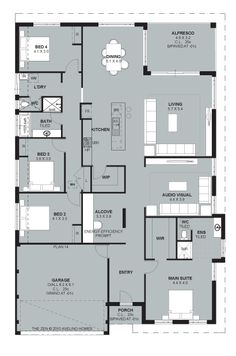 Love this floor plan, even though the rooms would change a little.