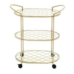 "Cole & Grey 31"" H x 27"" W Serving Cart"