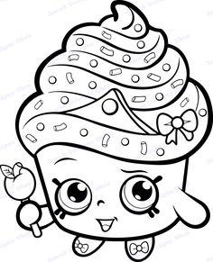 Shopkins Coloring Pages Free Printable, Shopkin Coloring Pages, Cupcake Coloring Pages, Princess Coloring Pages, Cute Coloring Pages, Christmas Coloring Pages, Coloring Sheets, Coloring Pages For Kids, Shopkins Printable