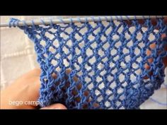 Knitting Help, Summer Knitting, Knitting Videos, Lace Knitting, Knitting Stitches, Diy Crafts Knitting, Diy Crafts Crochet, Easy Knitting Patterns, Crochet Projects