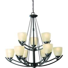 Hampton Bay Altham 9-Light Bronze Two Tier Chandelier-27704 at The Home Depot