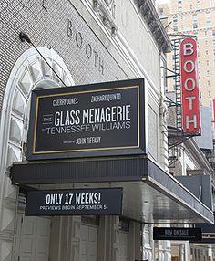 The Glass Menagerie Cherry Jones, Celia Keenan-Bolger Zachary Quinto The Booth Theatre New York City, NY Nov. 17, 2013*