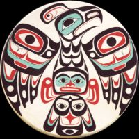 Odin Lonning, traditional Tlingit artwork, painted hand drums