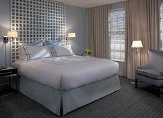 Situated in the heart of Alexandria, VA, Kimpton Lorien Hotel & Spa offers contemporary style in a lavish atmosphere coupled with amazing service & amenities. White Headboard, White Bedroom, Headboard Art, Master Bedroom, Headboards, Alexandria Hotel, Alexandria Virginia, Contemporary Home Decor, Hotel Spa