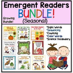 This is a bundle of all of my winter, spring, summer, and fall themed emergent readers. The bundle currently includes 13 books but I will add any future seasonal books to this bundle also. All of these books are listed individually in my store as well. Some of these books supplement popular favorite...