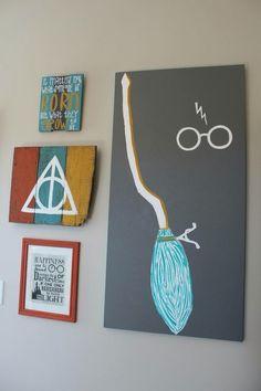 Cuadros decorativos con los principales elementos de Harry Potter