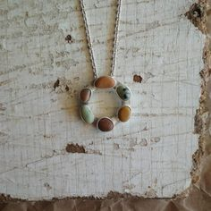 Sterling silver beach pebble necklace. Multi color sea stones necklace. Silver Pearl Ring, Beach Stones, June Birth Stone, Birthstone Jewelry, Sea Glass Jewelry, Black Rings, Photo Jewelry, Stone Necklace, Gift For Lover