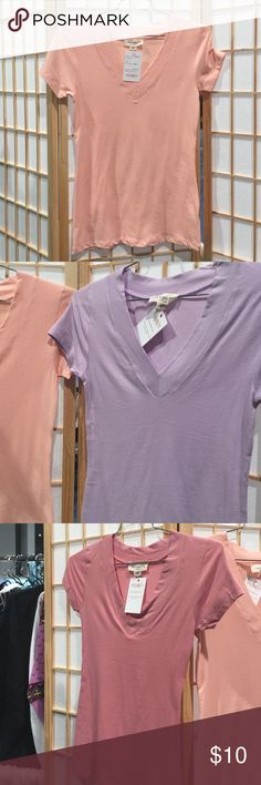 Gt-5009 Rayon V-Neck Short Sleeve Tee Rayon super soft V-neck tee. Available in coral, pink and light purple. Me & My T's Tops Tees - Short Sleeve