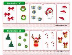 Voilà avec un peu d'avance les fiches pour les boites à compter spécial Noël. Je suis les fichiers