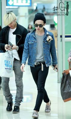 Airport Fashion: The G Dragon Swag-licious Edition Daesung oppa! Daesung, Kpop Fashion, Asian Fashion, Airport Fashion, G Dragon Fashion, Gd And Top, Bigbang G Dragon, Airport Style, Mode Style