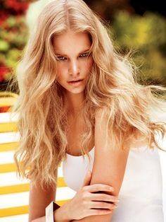 perfect golden blonde hair!