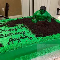Hulk Smash Cake by Sugar Cube C Bear Pinterest Hulk smash