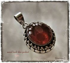 Silver pendant with carnelian -www.flearoom.fi