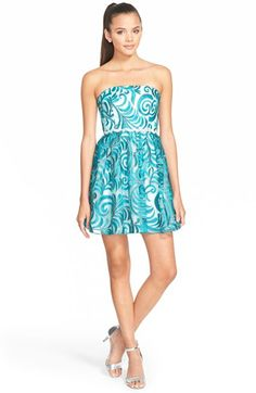 a.+drea+Embroidered+OrganzaStraplessDress+available+at+#Nordstrom