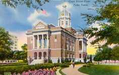 """The """"old"""" Smith County Texas courthouse Plaza, downtown, Tyler, Texas"""