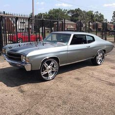 71 Chevelle on Rucci Forged Cuervo wheels split 5 star wheels grey Chevy Chevelle Ss, Sexy Ebony, American Muscle Cars, Beautiful Black Women, Fast Cars, Custom Cars, Vintage Cars, Cool Cars, Dream Cars