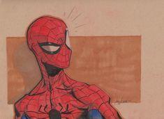 Spiderman Headsketch by *joverine. It's like a spiderman WTF moment hahaha Spiderman Drawing, Spiderman Art, Amazing Spiderman, Spiderman Sketches, Marvel Comics, Marvel Heroes, Marvel Drawings, Marvel Fan Art, Art Reference