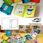Maagilised raamatukaardid DIY invitation card or certificate – the magic book