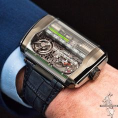 Linear, fluidic and pretty darn cool all around! HYT watches H3.