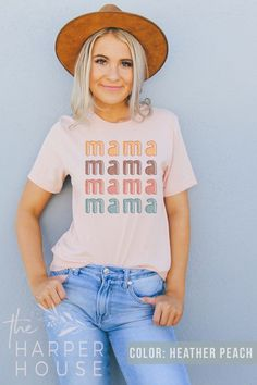 Excited to share the latest addition to my #etsy shop: Mama Shirt Aesthetic Clothing Boho Shirts for Women Graphic Tees Cute Mom Tshirt and Mothers Day Gift