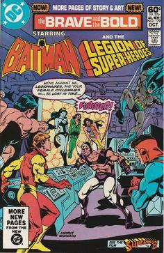 Brave & the Bold Vol. 27 No. 179 1981 Batman and the Legion of Super-Heroes by TheSamAntics Dc Comics, Batman Comics, Batman Comic Books, Comic Books Art, Comic Art, Book Art, Vintage Comic Books, Vintage Comics, Marvel And Dc Crossover