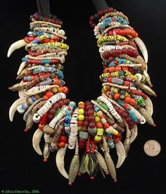 Bone and tribal beads African Trade Beads, African Jewelry, Tribal Jewelry, Jewelry Art, Beaded Jewelry, Beaded Necklace, Jewelry Design, Shell Jewelry, Bead Jewellery