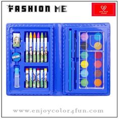 30pcs pretty stationery sets   Specification:   Item: 30pcs pretty stationery sets   Box size: 21.7*14.8*3.5cm   Composition:    1. 12pcs pancake             2. 1pc palette   3. 1pc paint brush                   4. 1pc pencil   5. 1pc glue                              6. 6pcs crayons   7. 1pc sharpener                     8.6pcs oil pastels   9. 1pc eraser   Material: innocuity and safety   Packing: under customers' requirements
