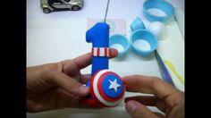 Vela Capitão America em Biscuit - Rejane Kesia