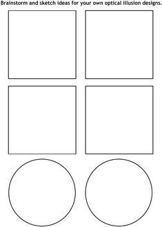 Art Lesson Plan: Op Art Cube