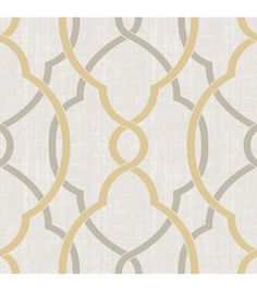 WallPops® NuWallpaper™ Taupe/Yellow Sausalito Peel & Stick Wallpaper | Online Only Product
