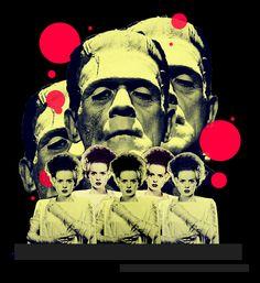 The Bride of Frankenstein Real Monsters, Horror Monsters, Famous Monsters, Classic Monster Movies, Classic Monsters, Horror Show, Horror Art, Beetlejuice, Frankenstein's Monster