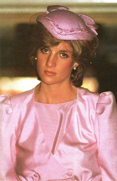 Princess Diana wore a John Boyd pink skull hat at an official event during their first royal Australian tour on March 29, 1983 in Newcastle, Australia.