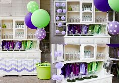 polka dot croc bar, party bar ideas, croc party, via party box design