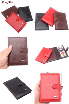 Cat Wallet Stuff Leather Passport Holder Cover Case Blocking Travel Wallet