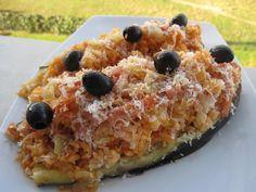 mis recetas dulces y saladas: berenjenas rellenas de arroz y bacon