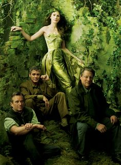 Robert F. Kennedy Jr., George Clooney, Julia Roberts and Al Gore by Annie Leibovitz for Vanity Fair, 2006