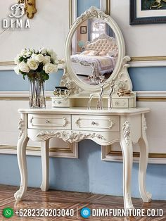 Vanity, Carving, Luxury, Classic, Interior, Furniture, Home Decor, Dressing Tables, Derby