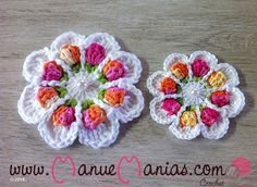 ergahandmade: Crochet Flower + Free Pattern Step By Step