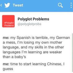 Who's facing this exact same polyglot problem at the moment? I am, but I'm forcing myself to not start learning Swedish until my German will be better -Marta