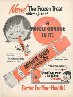 Minute Maid Orange Bars (1960).