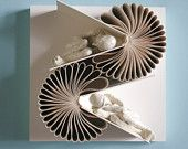 White on White Double Book Birdie (Original Sculpture)