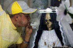 Meet Santa Muerte, The Tequila-Loving Saint Comforting Both ...
