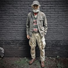 Mature Mens Fashion, Old Man Fashion, Fashion Books, Gucci Models, Great Beards, Rugged Style, Hipster Man, Outdoor Fashion, Of Mice And Men