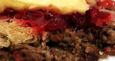"Ovenschotel "" Siepeltjespot"" o.a.Zuurkool Gehakt Cranberrycompote( Wadden ) recept | Smulweb.nl"